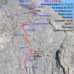 croquis escalada Pequeño desastre animal, Pico susarón, Puebla de Lillo, León