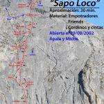 croquis escalada Sapo Loco , Pico susarón, Puebla de Lillo, León