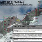 Croquis escalada, Espiguete, Give ne gas, mas espolón norte
