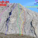 croquis escalada muro de los satánicos , Pico susarón, Puebla de Lillo, León