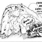 Croquis escalada, puto peaje, coton de lancara, León