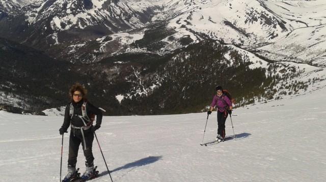 Esquí de Montaña, iniciación. Salida practica, Puerto de Leitariegos (León)