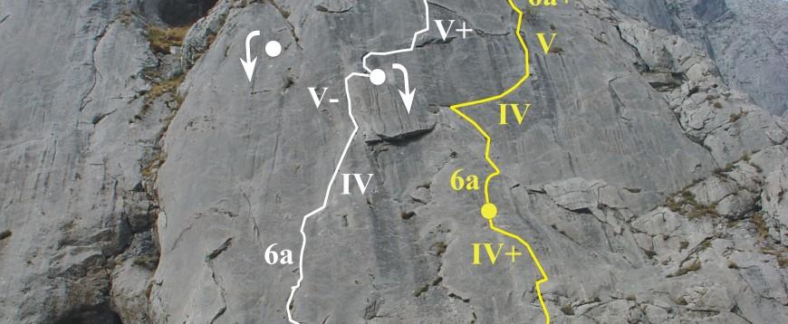 """Levitación transcendental"" 160m 6a+, Hoces de Vegacervera."