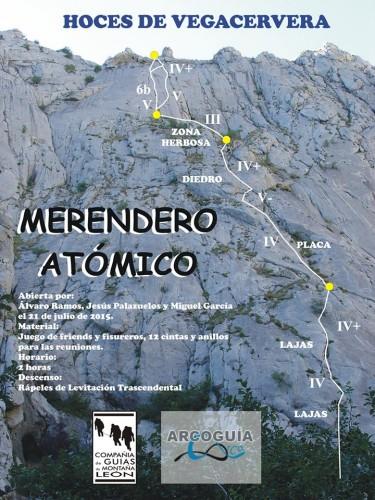 Croquis escalada Merendero atómico, Hoces de Vegacervera