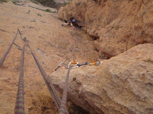 Escalada en Taghia, Marruecos