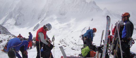 Mont Blanc 4810m con Esquís de Montaña
