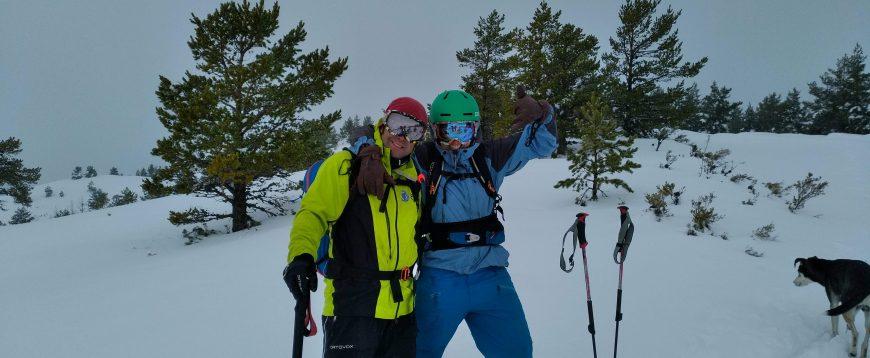 Esquí de Montaña, iniciación. Salida practica
