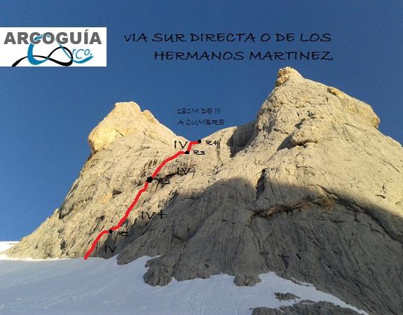 DIRECTA DE LOS MARTINEZ (CARA SUR)