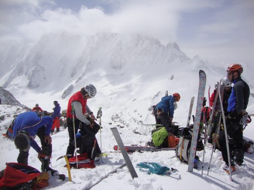 Mont Blanc 4810m con esquis