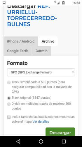 WIKILOC DESCARGA DE TRACKS