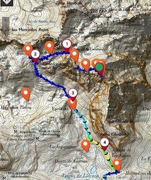 Móvil como GPS en montaña