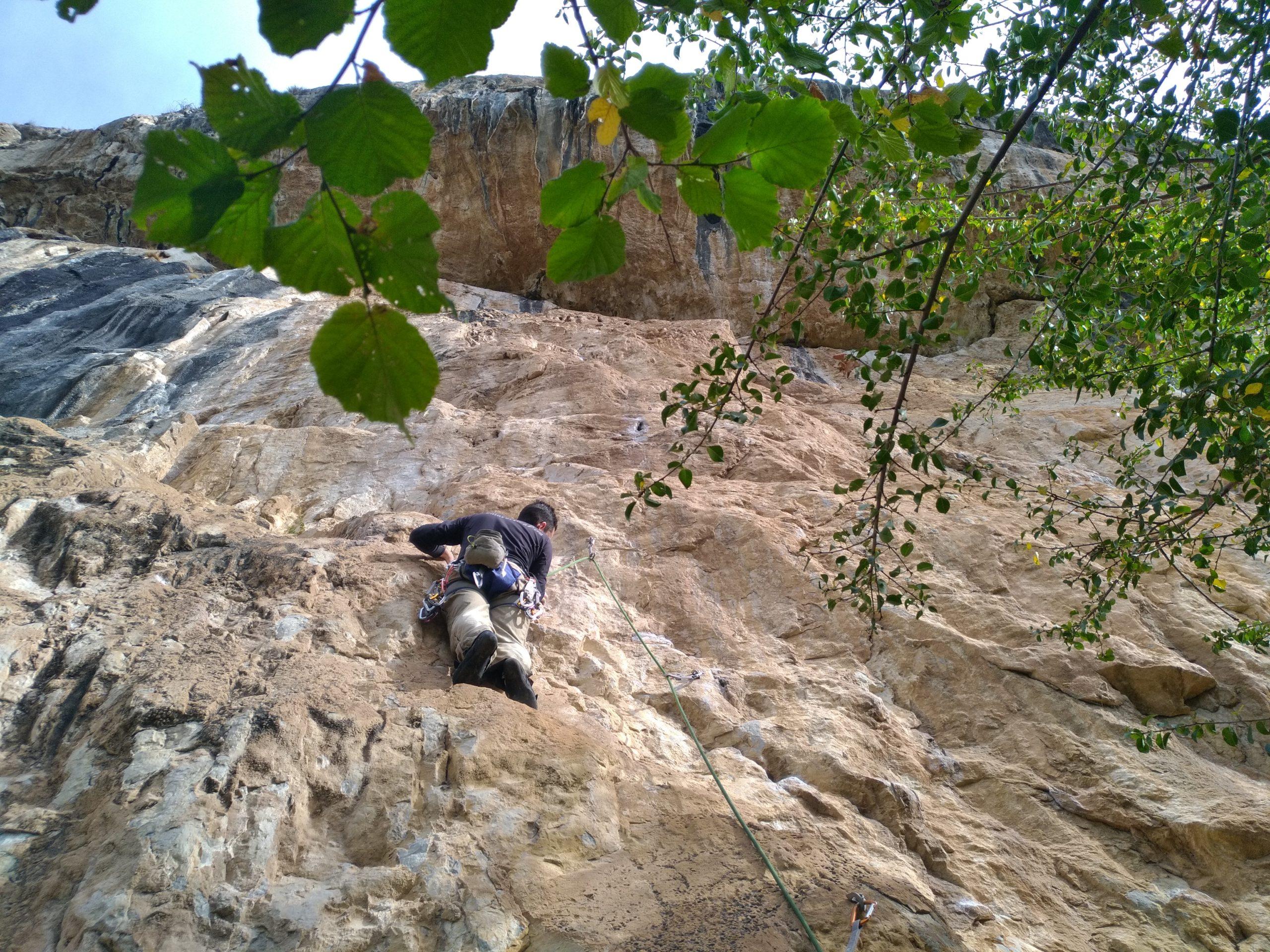 escalada en teverga, asturias